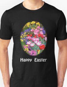 Happy Easter Spring Flowers Dark T-Shirt T-Shirt