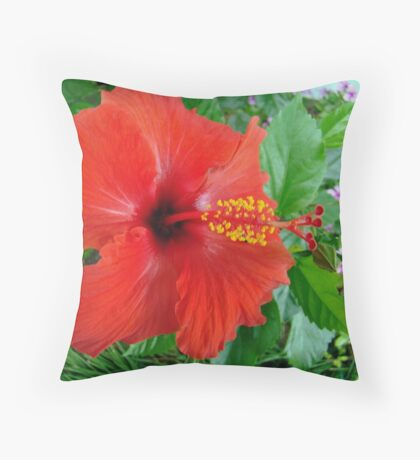 My Front Yard Hibiscus Throw Pillow