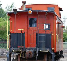 Orange Train by Vonnie Murfin