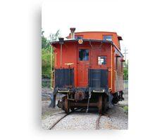 Orange Train Canvas Print