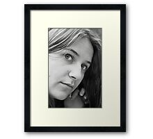 Anya the Face Framed Print