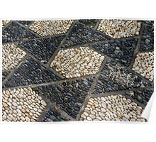 Pebble Paving in a Chinese Scholar's Garden Poster
