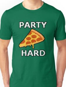 Party Hard Pizza Pixel Art Unisex T-Shirt
