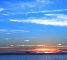 Sunset Ocean Blue by Henrik Lehnerer
