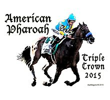 American Pharoah Triple Crown 2015 Photographic Print