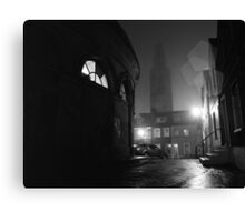 Shandon And The Firkin Crane In The Fog Canvas Print