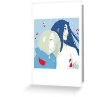 Rem and Tessla - Trigun square #5 Greeting Card