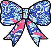 Lilly Pulitzer Inspired Bow She She Shells by mlr28blu