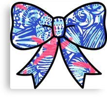 Lilly Pulitzer Inspired Bow She She Shells Canvas Print