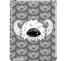 White Monster Head iPad Case/Skin
