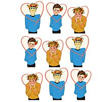 Set of Spock, Jim Kirk, and Bones valentines Photographic Print