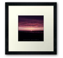 Blushing End Framed Print