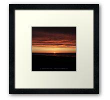 Burnt Sunset Framed Print