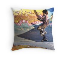 Rollers  Throw Pillow
