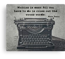 Writing According to Twain Canvas Print