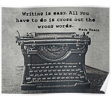 Writing According to Twain Poster