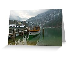 Old boat on Königsee Greeting Card