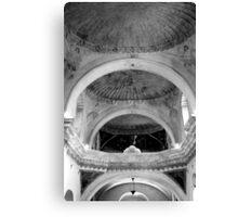 San Xavier Ceiling 1 BW Canvas Print