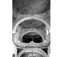 San Xavier Ceiling 1 BW Photographic Print