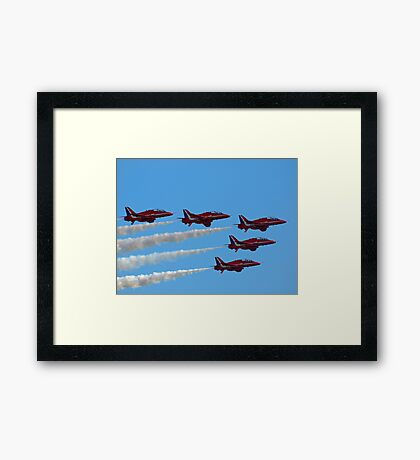 Red Arrows Fly Pass Framed Print