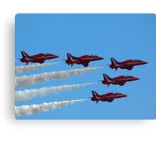 Red Arrows Fly Pass Canvas Print