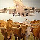 Herding Longhorns by Jim Lively