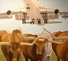 Herding Longhorns by Jim Lively