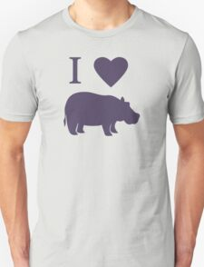 I Love Hippos Unisex T-Shirt