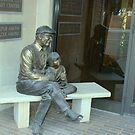 Bench Statue in Amarillo, Texas by Susan Russell