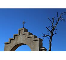 San Xavier Cross and Tree Photographic Print