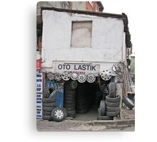 Wheel mechanic Canvas Print