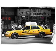 Yellow Cab - Times Square Poster