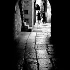 Old Cobblestoned Street by Mojca Savicki