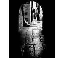 Old Cobblestoned Street Photographic Print