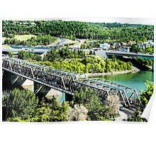 Walterdale Bridge Edmonton River Valley Poster