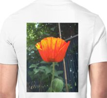 First Poppy of the Season in Mo's Garden Unisex T-Shirt