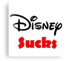 Disney sucks Canvas Print