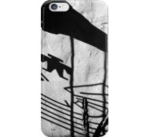 San Xavier Gate Shadow with Cactus BW iPhone Case/Skin