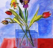 tulips  in the Bottle by Birgits