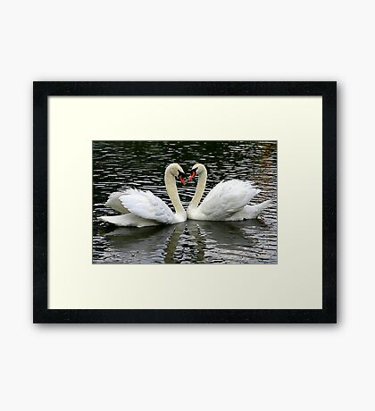 Two Hearts Beat as One Framed Print