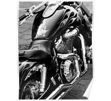 Harley Davidson: Black and White Poster