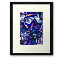 Abstracted Butterflies in Fauvist Colors #21  Framed Print