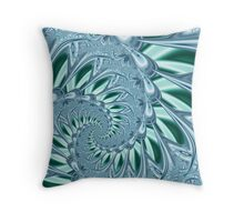 Predictor-Series No.3 - Blue wave (with seagulls) Throw Pillow