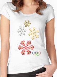 Proud to be Canadian- Winter Olympics 2010 Women's Fitted Scoop T-Shirt