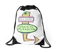The Green Dragon Serves ALL the Hobbit Meals Drawstring Bag