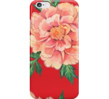 - Peony red pattern - iPhone Case/Skin