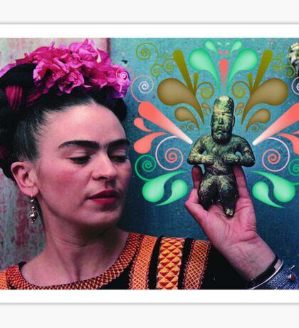 Frida Swirls Sticker