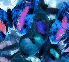 Abstracted Butterflies in Fauvist Colors #22  by Ivana Redwine