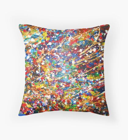 Misty's Pollock Throw Pillow