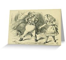 Through the Looking Glass Lewis Carroll art John Tenniel 1872 0104 Only an Old Rattle Greeting Card